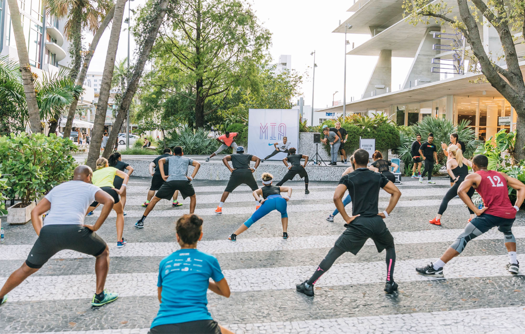 Lincoln Road BID outdoor exercise
