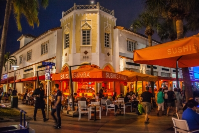 Lincoln Road BID outdoors night