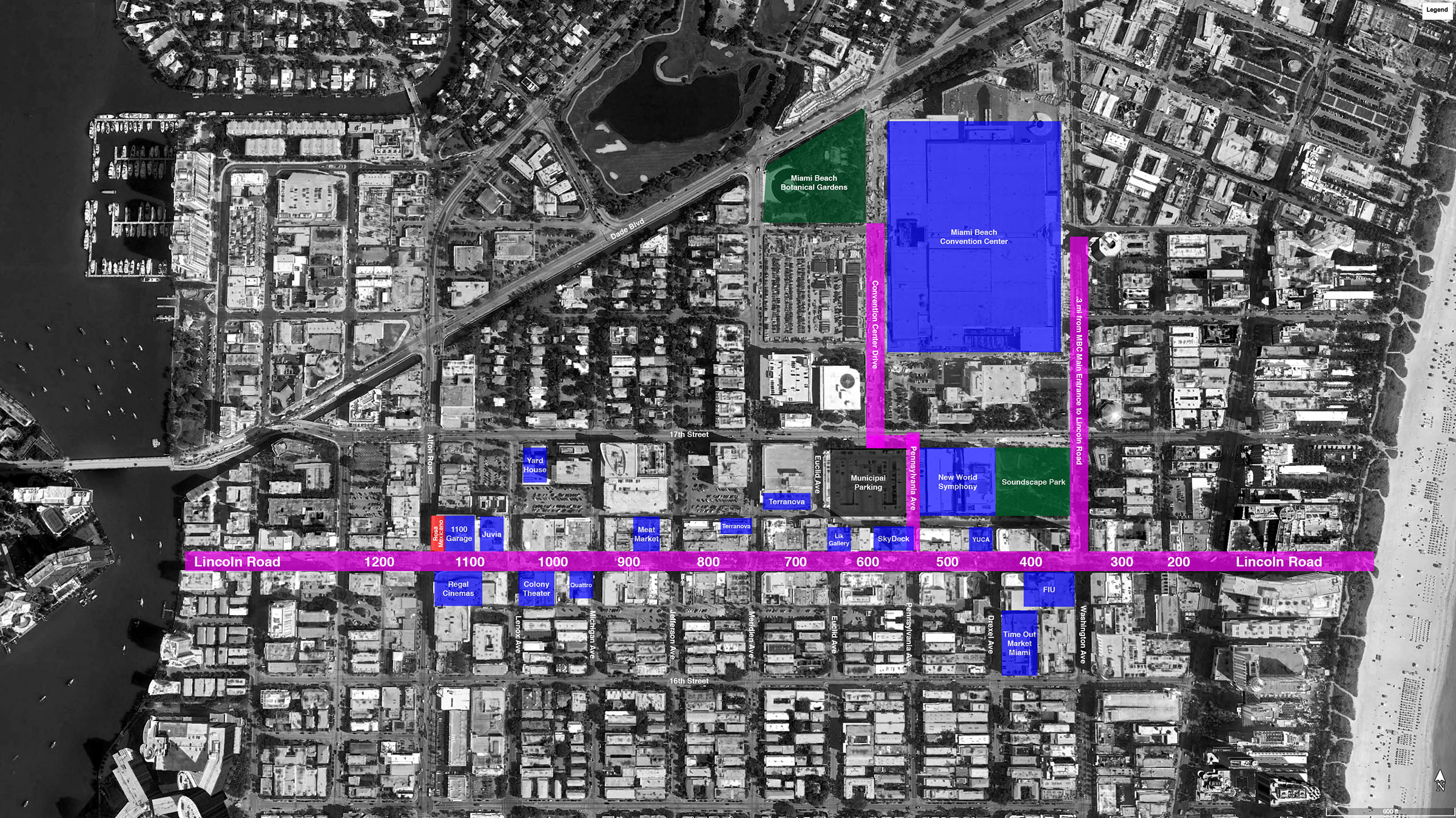 Lincoln Road BID map